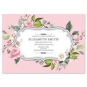 Custom Grand Rose Invitations