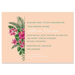 Custom Lavish Tropical Invitations