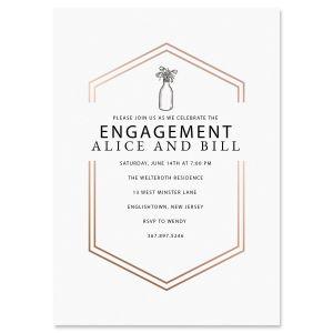 Custom Bliss Engagement Invitations