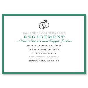 Custom Entwined Ring Invitations