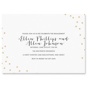 Custom Glitter Confetti Invitations