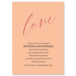 Custom Love Engagement Invitations