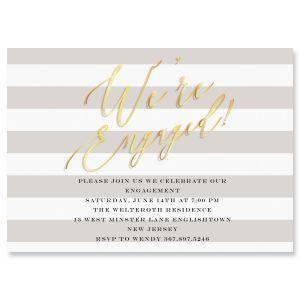 Custom We're Engaged Invitations