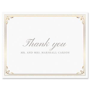 Custom Gold Frame Thank You Cards