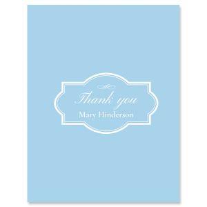 Custom Light Blue Thank You Cards