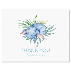Custom Sleeping Elephant Thank You Cards