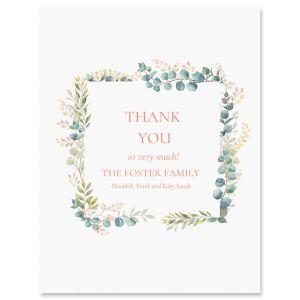 Custom Floral Frame Thank You Cards