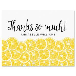 Custom Lemons Thank You Cards