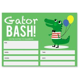 Gator Fill In The Blank Birthday Invitations