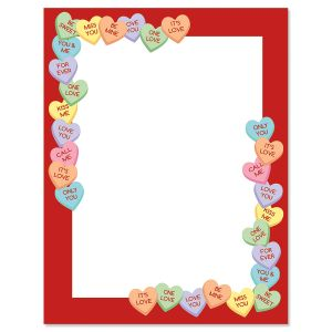 Candy Heart's Stationary