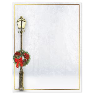 Lamp Post Christmas Letter Papers