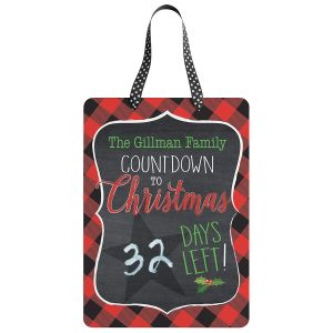 Custom Christmas Chalkboard Countdown