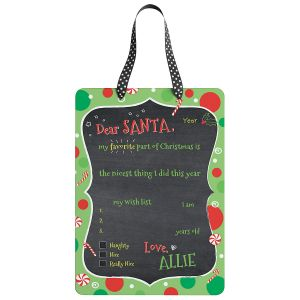 Custom Dear Santa Christmas Plaque