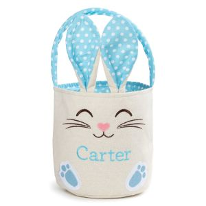Personalized Blue Bunny Easter Basket