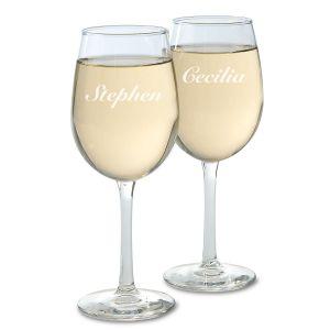 Custom Name Wine Glass