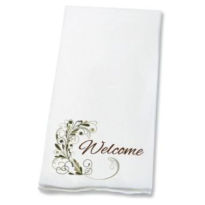 Welcome Flourish Guest Hand Towels