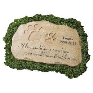Pet Memorial Personalized Garden Stone