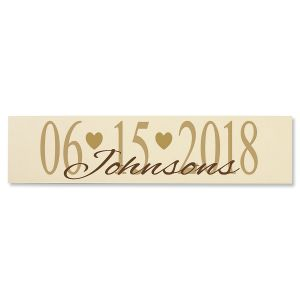 Wedding Date Plaque