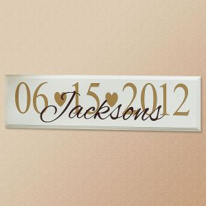 Wedding Date Personalized Wooden Plaque