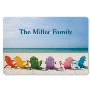 Tropical View Personalized Doormat