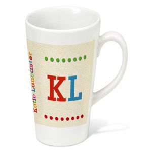 Whimsical Name Latt&#233 Personalized Mug