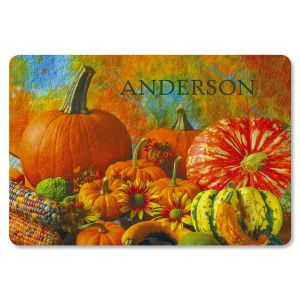 Beautiful Pumpkins Personalized Doormat