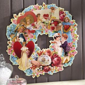Vintage Diecut Wreath of Love