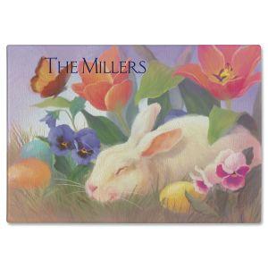 Irresistible Bunny Custom Glass Cutting Board