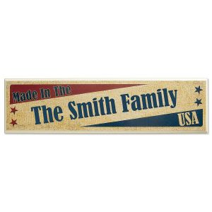 Made In The USA Personalized Plaque