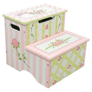 Crackled Rose Custom Step Stool