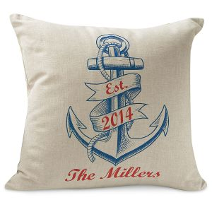 Anchor Personalized Pillow