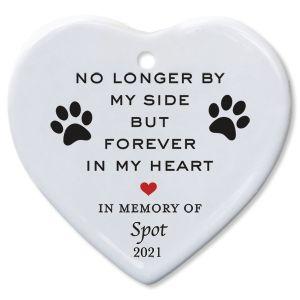 Forever In My Heart Pet Memorial Custom Ornament