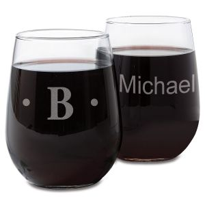 Stemless Custom Wine Glasses