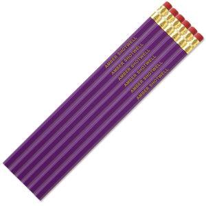 Purple #2 Hardwood Custom Pencils