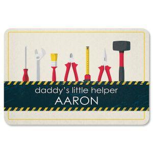 Custom Daddy's Little Helper Doormat