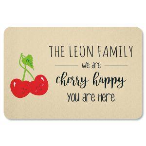Custom Cherry Happy Doormat