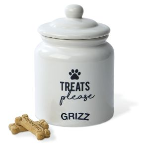 Personalized Ceramic Treat Jar