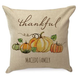 Thankful Personalized Pillow