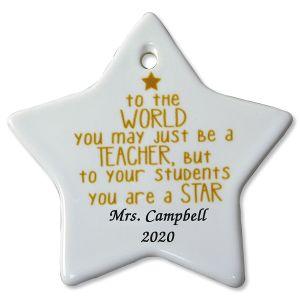 You May Be Just a Teacher Custom Christmas Ornament