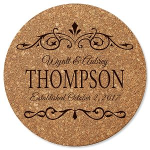 Established In… Custom Round Cork Trivet
