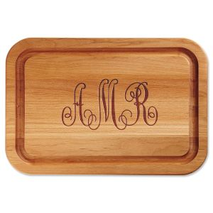 Personalized Monogrammed Custom Wood Cutting Board