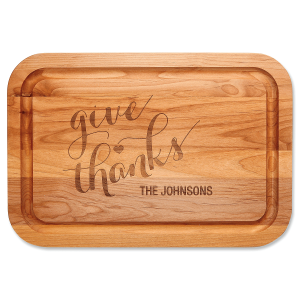 Give Thanks Custom Wood Cutting Board