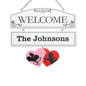 Custom Welcome Plaque with Seasonal Hangers