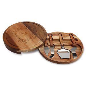 Custom Acacia Cheese Board Set