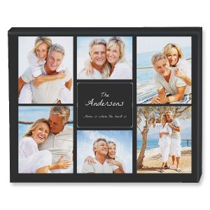 Home Heart Collage Custom Photo Canvas