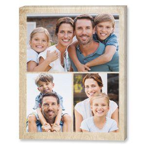 Midtone Wood Collage Custom Photo Canvas