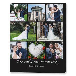 Mr. & Mrs. Collage Custom Photo Canvas