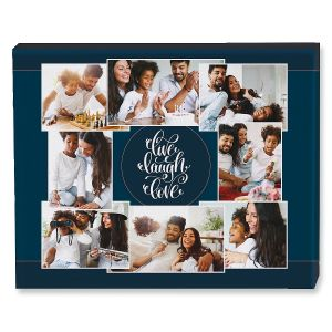 Live Laugh Love Collage Custom Photo Canvas