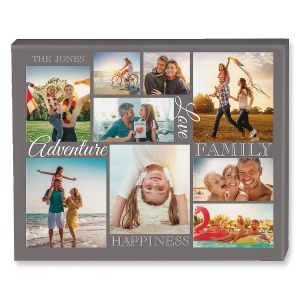 Adventure Collage Custom Photo Canvas