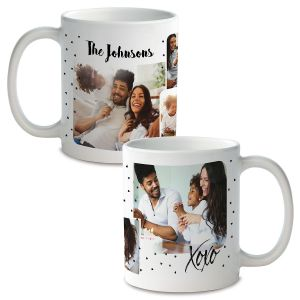 Family Hearts Ceramic Photo Mug